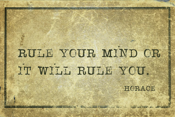 rule mind Horace Wall mural