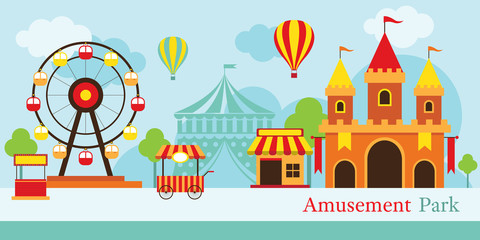 Amusement Park, Carnival, Fun Fair, Theme Park, Circus, Day Scene