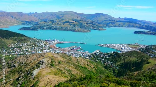 "Pray For Christchurch Hd: ""Aerial Landscape View Of Lyttelton Inner Harbour And"