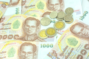Bank of Thailand and silver coins