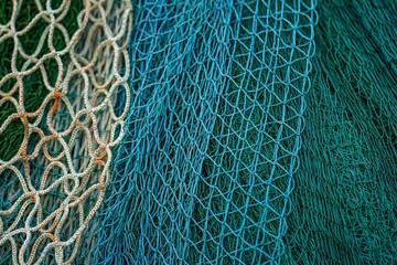 fishing net on the beach