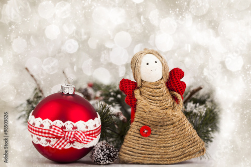 christmas decoration with handmade angel - Handmade Angels Christmas Decorations