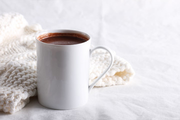hot chocolate drink in white mug