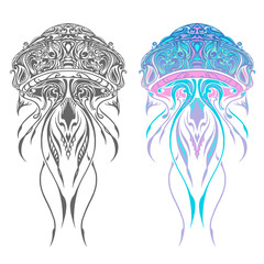 Abstract jellyfish illustration