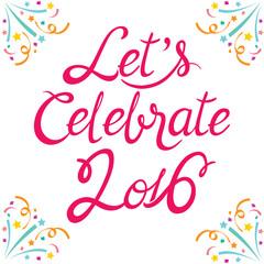 Celebration Lettering, Celebration, Festive, Anniversary