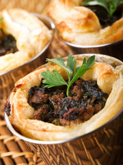 Ground beef puff pastry