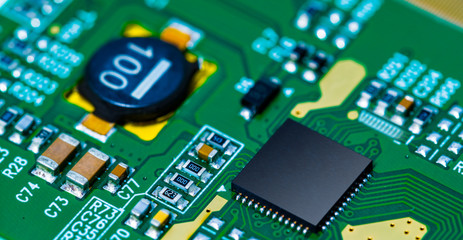 Microchip on PCB printed circuit board