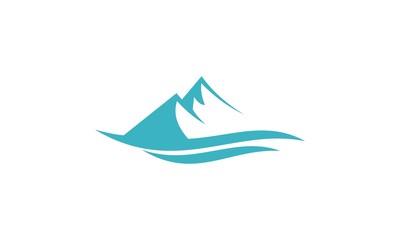 abstract mountain lake logo