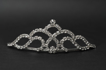 tiara on a black background