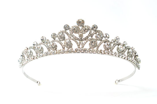 tiara on a white background