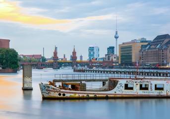 Rivière Spree à Berlin, Allemagne