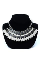 Necklace on a black mannequin