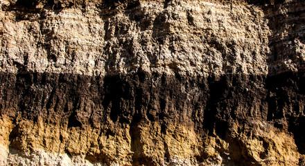 Geological cut.