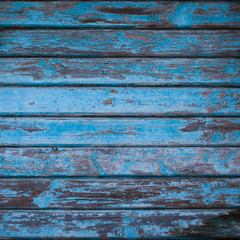 texture of wooden wall with shabby navy blue paint. background from dark blue wood planks, rustic style