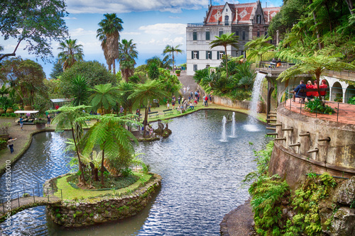 Fototapete Tropical Garden Monte Palace. Funchal, Madeira Island, Portugal