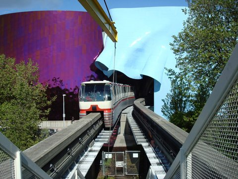 Seattle Center Monorail, Seattle, Washington, USA