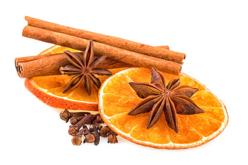 Orange Slices Cinnnamon Sticks Anise