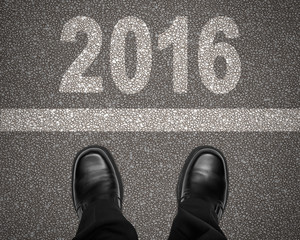 2016 with Line and Shoes on Road