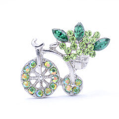 brooch bicycle isolated on white