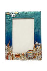 Marine photo frame isolated on white