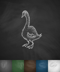 goose icon. Hand drawn vector illustration