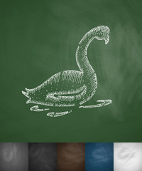 swan icon. Hand drawn vector illustration