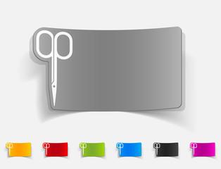 realistic design element. nail scissors