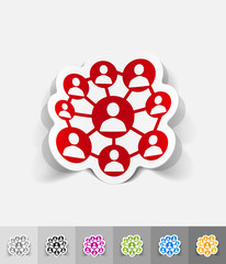 realistic design element. social network