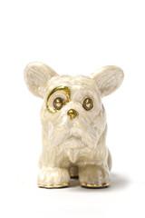 marble figure of a pug