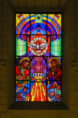 Stained Glass of the Trinity in Madrid Cathedral