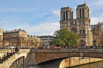 Parigi, la Senna a Notre Dame