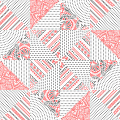 Cute seamless patchwork pattern.