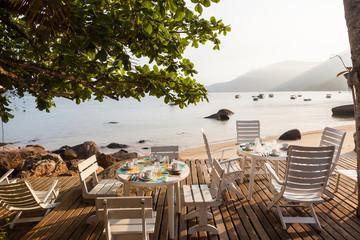 A table to lunch in beach of Saco do Mamanguá - Rio de Janeiro