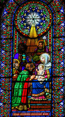 Wall Mural - Stained Glass of the Magi or Three Wise Men
