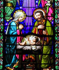 Wall Mural - Nativity Scene at Christmas in Montserrat Abbey