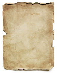 Old Paper Sheet Isolated