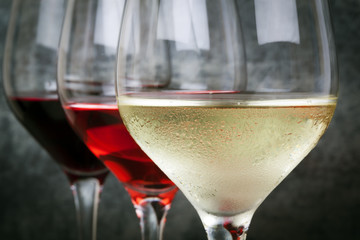Poster Alcohol White Rose and Red Wine