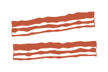 Bacon strips flat color icon for apps and websites