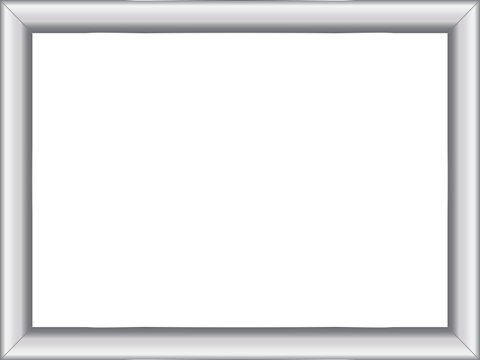 illustration of a basic silver frame with room for text on white background, vector image, eps10