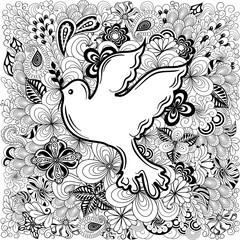 Dove of peace doodle