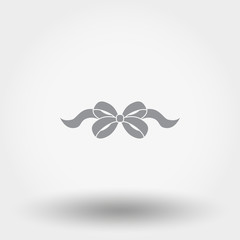 Bow. Icon. Flat.