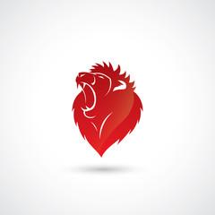 Red lion emblem