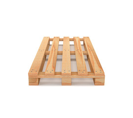 Wooden pallet isolated on white background. 3d illustration.