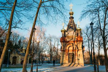 Keuken foto achterwand Wenen Chapel-tomb of Paskevich in city park in Gomel, Belarus.