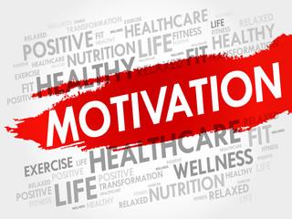 MOTIVATION word cloud, fitness, sport, health concept