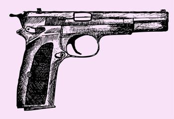 gun, doodle style