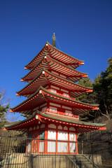 新倉山浅間公園の五重の塔