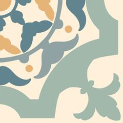 Portuguese tiles pattern. Vintage background - Victorian ceramic tile
