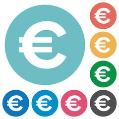 Flat euro sign icons