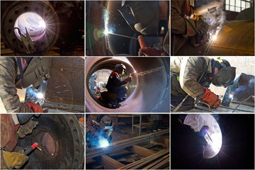 welding works in different conditions